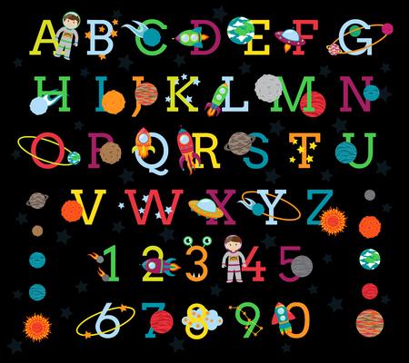 Gut gemocht Espace Alphabet Avec Les 8 Planètes Et Le Soleil Clip Art Libres  VF56