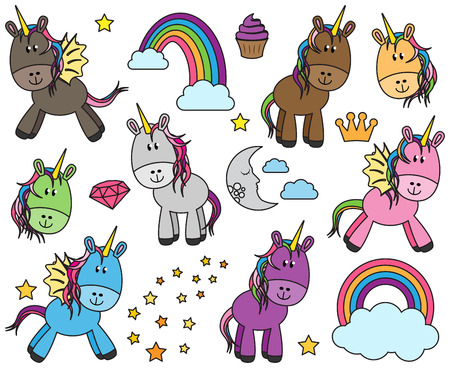 make believe: Cute Collection of Unicorns or Horses