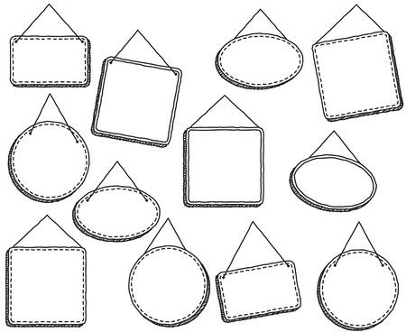 표지판 또는 프레임을 벡터 형식으로 고정하는 낙서 스타일 스톡 콘텐츠 - 73471572