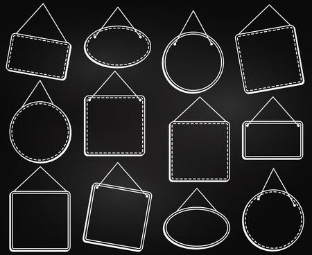 프레임 식 매달려 또는 벡터 형식의 표지판 매달아 칠판 스타일 스톡 콘텐츠 - 73766304