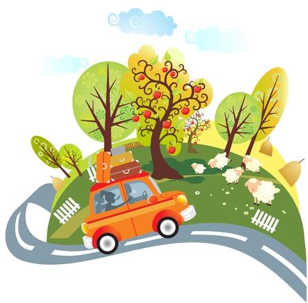 viaje familia: De viaje en coche