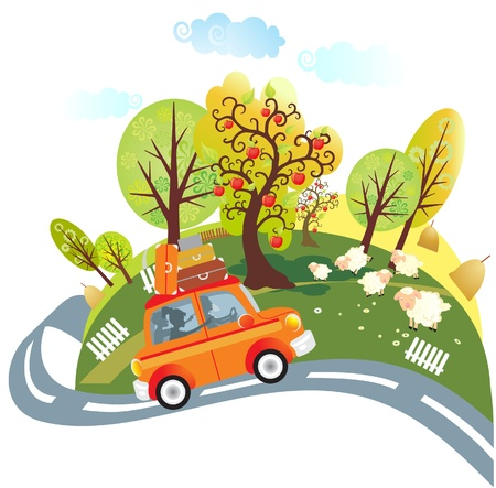 Fahrt mit dem Auto