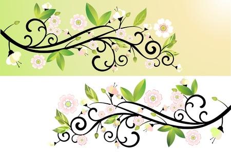 abloom: Tiempo de primavera Vectores