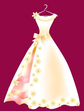 pink dress: wedding dress