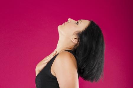 女性のルックアップ 写真素材