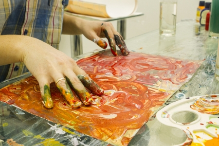 spontaneous painting: spontaneous painting Stock Photo