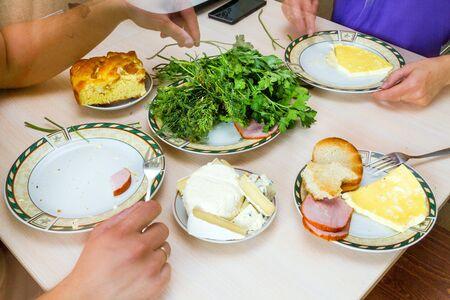 parsley digestion: breakfast Stock Photo