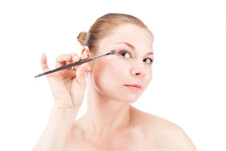 cheekbones: woman Stock Photo