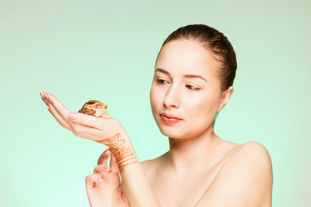 secreted: A woman with a snail