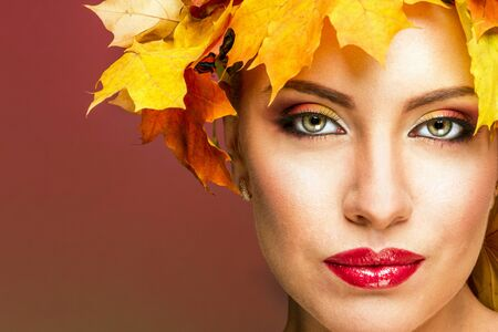 drowsiness: Woman in autumn image
