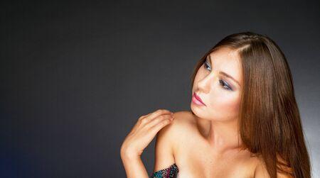 collarbone: woman Stock Photo