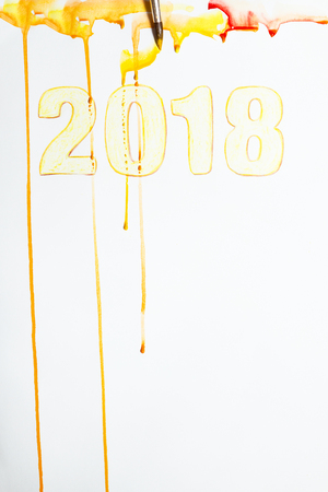 smudge: Picture with 2018. Stock Photo