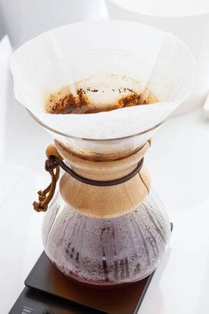 Preparation of coffee without cooking.