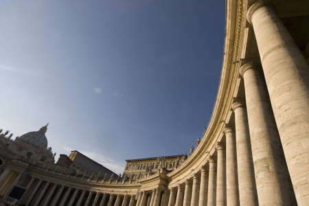 mannerism: Sunset at St. Peter Square - Rome, Italy Stock Photo