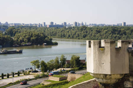 Part of the famous fortress Kalemegdan in Belgrade, Serbia photo