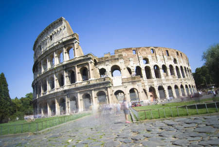 Long-exposure photography of the colosseum - Rome, Italy photo