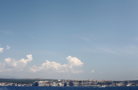the town Bonifacio seen from the distance photo
