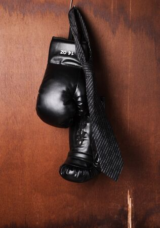 boxing-glove with a necktie