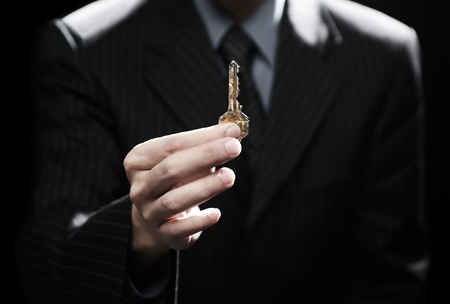 secure home: key to success  Stock Photo