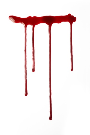 cut and blood: flowing red blood