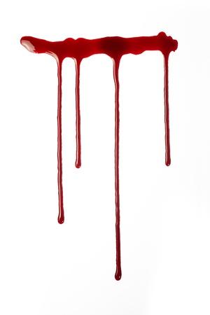 coule: sang qui coule rouge Banque d'images