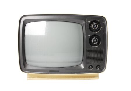 old fashioned tv: old tv isolated Stock Photo