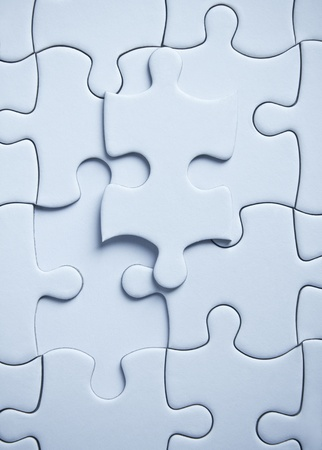 piece.blue colored puzzle Stock Photo - 11265424