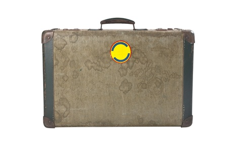 duffel: old suitcase isolated  Stock Photo