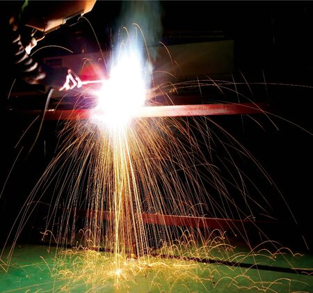 welding metal and sparks.motion blur