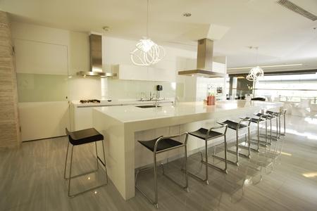 modern kitchen: Modern designer kitchen  Editorial