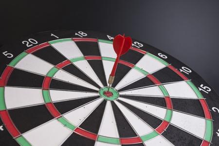 red dart hitting a target  photo