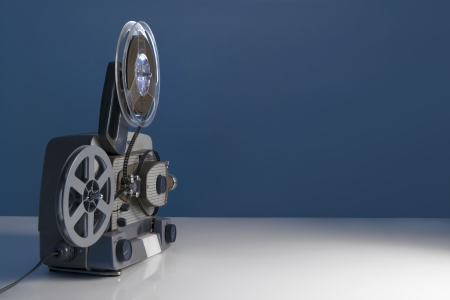 cinema screen: old movie projector textures  Stock Photo