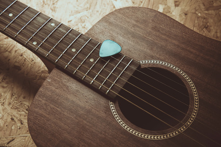 Acoustic guitar background photo