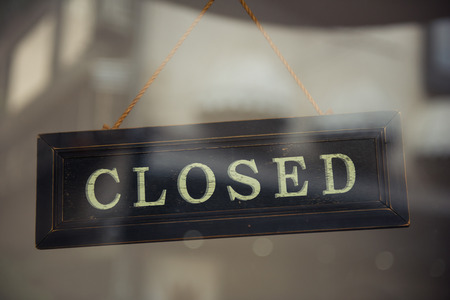 out of doors: Closed