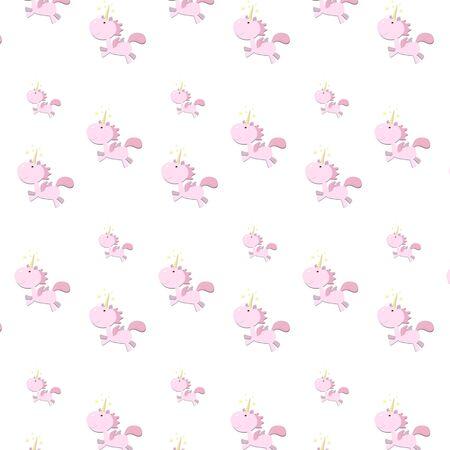 Motif de licorne rose pour enfants Banque d'images - 94426512