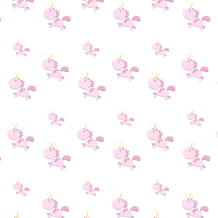Childrens background with pink flowers on a white background Иллюстрация