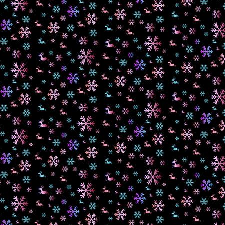 Christmas pattern on black background Иллюстрация