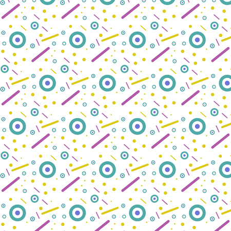 Geometric abstract background color pattern on white