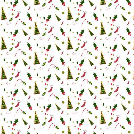 Patttern with christmas tree seamless pattern background