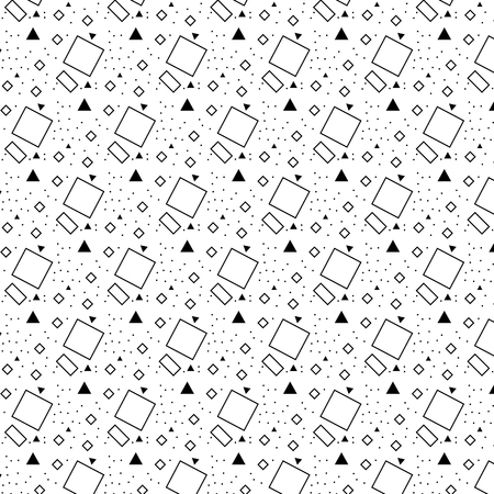A Vector pattern with black and white triangle a line a circle spot quadrate Çizim
