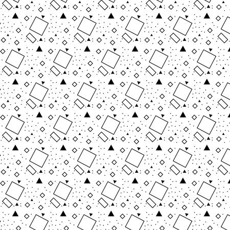 A Vector pattern with black and white triangle a line a circle spot quadrate Illusztráció