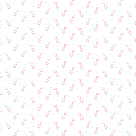 Minimalism trendy Pattern ornament with pink grass plants and blue triangles on a white background