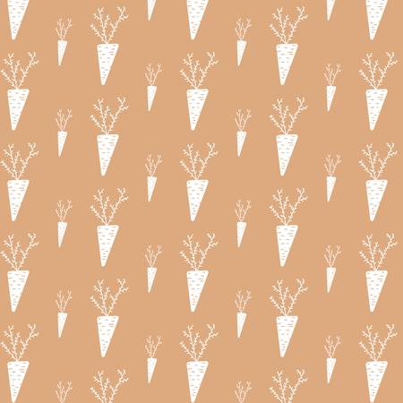 Pattern of ornamental autumn harvesting of white carrot