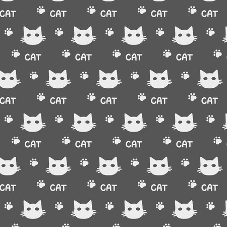 Pattern ornament for a cat with a gray cat