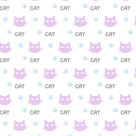 Pattern ornament for a cat with a cat on a white background