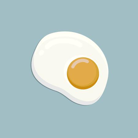 Illustration of Fried Egg Omelette