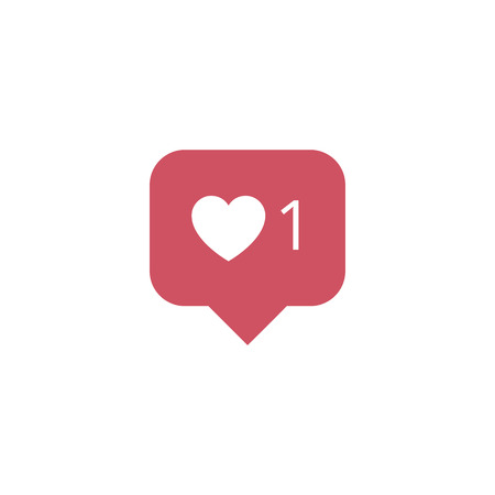 Follower New Icon like  symbol, button. Social media like Иллюстрация