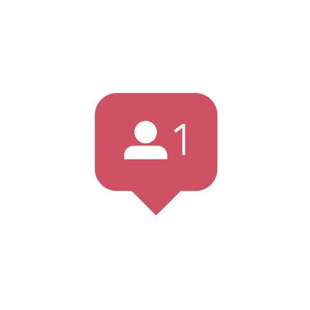 New Follower icon for social media