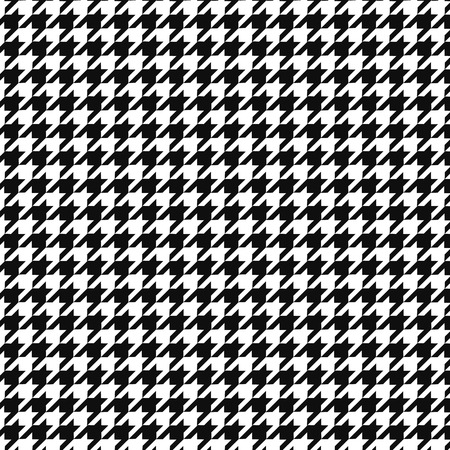 Hounds tooth  pattern ornament. Geometric print in black and white color. Classical English background Glen plaid for fashion design
