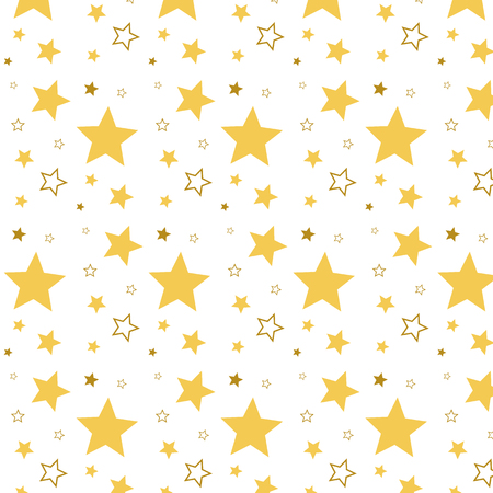 Pattern ornament with stars. Many stars. Pattern with stars. Yellow stars on white background